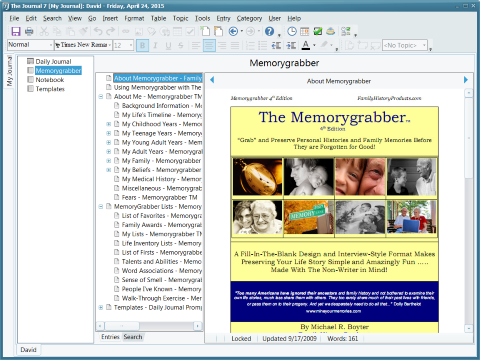 DavidRm Software The Journal Screenshot