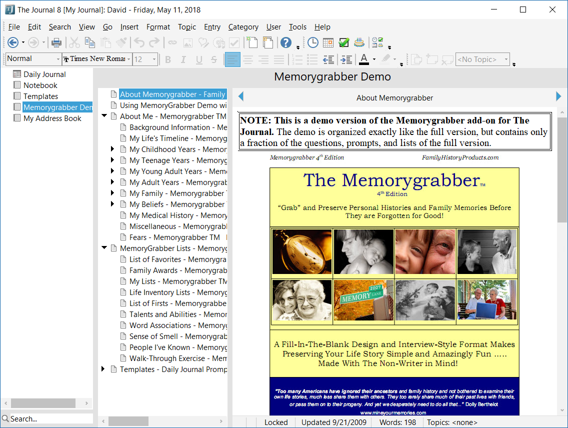 See The Journal in Action! \u2013 DavidRM Software\u0027s The Journal